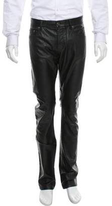 Saint Laurent Faux Leather Pants