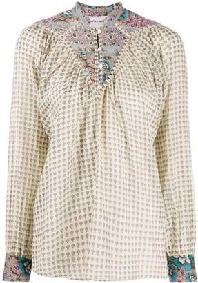 Antik Batik mixed-print tunic blouse