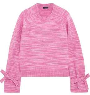 J.Crew Bow-Detailed Marled Knitted Sweater