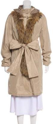 Max Mara 'S Fur-Trimmed Reversible Coat