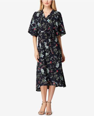 Tahari ASL Belted Floral Kimono Midi Dress