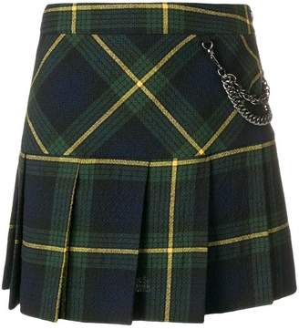 Moschino plaid pleated skirt