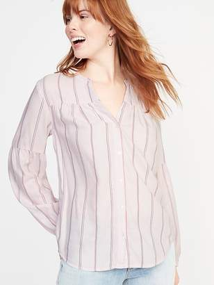Old Navy Printed Button-Front Shirt for Women