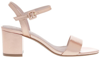 Basque Roma Rose Gold Leather Sandal