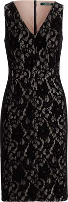 Ralph Lauren Lace V-Neck Dress