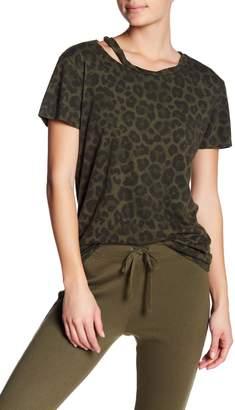 Pam & Gela Distressed Leopard Print Tee