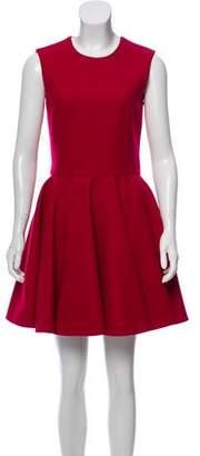 Alexander McQueen Virgin Wool Fit and Flare Dress