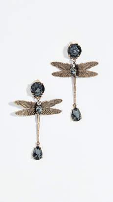 Tory Burch Dragonfly Stone Earrings