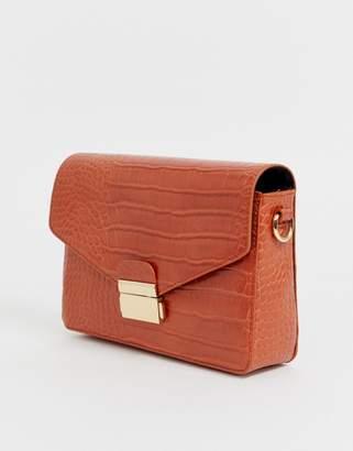 Asos Design DESIGN satchel in croc
