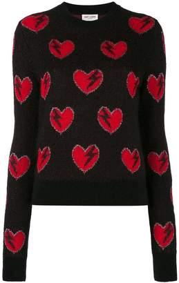Saint Laurent heart and lightning sweater