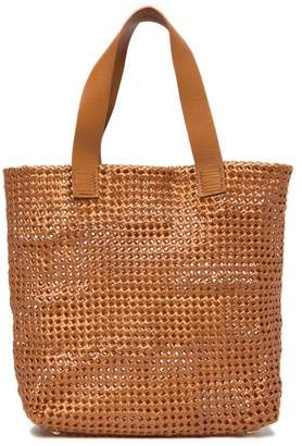 Sophie Anderson Femi Knotted Vinyl Leather Trim Tote Bag