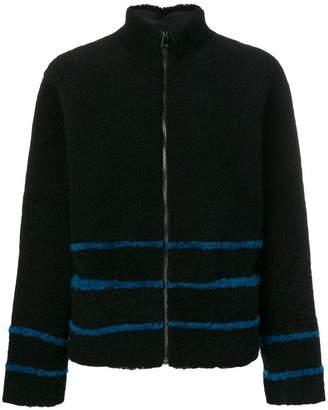 Inès & Marèchal striped shearling coat