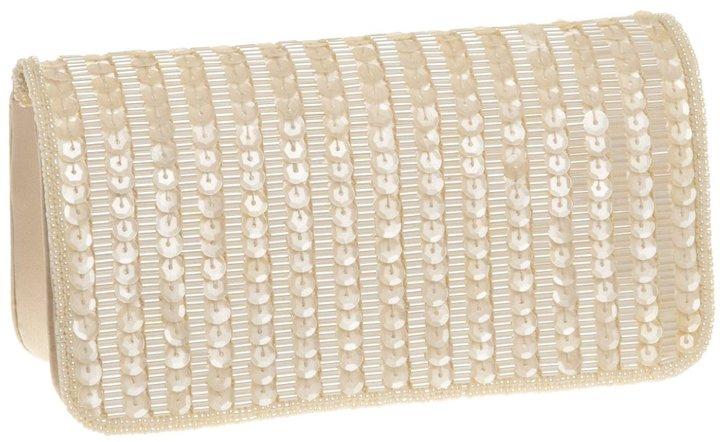 La Regale Sequin Bead Shoulder Clutch