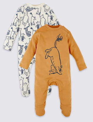 Marks and Spencer 2 Pack Winnie the Pooh & Friends Sleepsuits