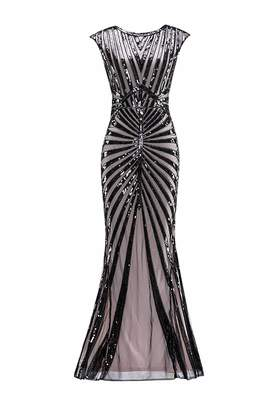 5a8e08f53b M MAYEVER 1920s Vintage Sequined Mermaid Formal Flapper Gatsby Party Dress  (XL