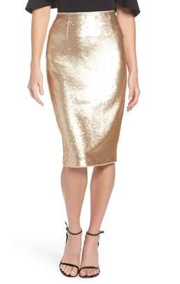 Eliza J Paillette Pencil Skirt