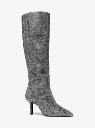 MICHAEL Michael Kors Katerina Crystal-Embellished Knee-High Boot