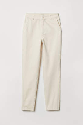 H&M Ankle-length Jeans - White