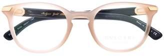Bulgari oval frame glasses