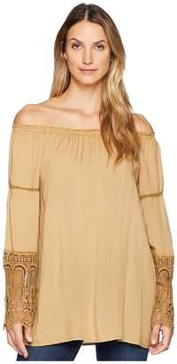 Scully Bardot Elegant Off the Shoulder Blouse Women's Clothing