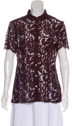 Burberry Lace Short Sleeve Top