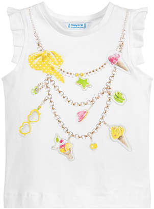 "Mayoral Ice-Cream ""Necklace"" Tank Top"