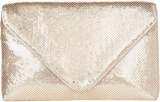 La Regale Gold Shimmer Envelope Bag