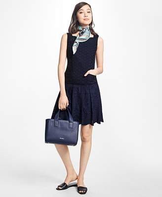 Cotton Eyelet Drop-Waist Dress $198 thestylecure.com