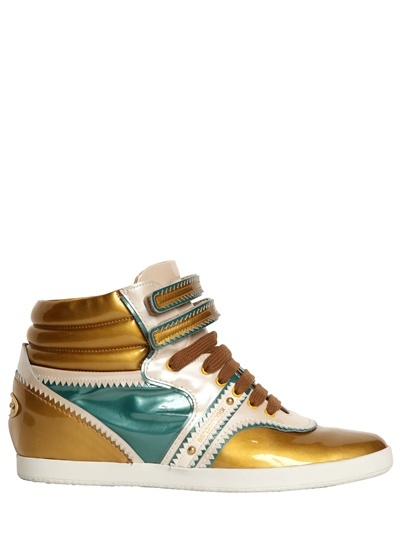 Sergio Rossi 60mm Ep Urban Glossy Patent Sneakers