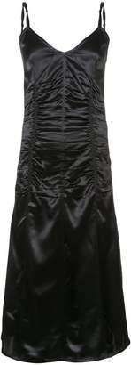 Helmut Lang ruched v-neck dress