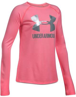 Under Armour Girls' Big Logo Tee - Big Kid