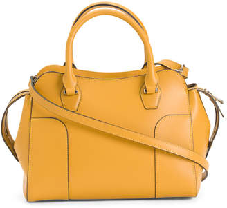 Made In Italy Leather Corner Satchel