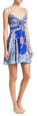 Camilla The Long Way Home Print Silk Crepe A-Line Camisole Dress