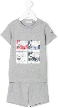 Moncler comic book printed T-shirt and short set