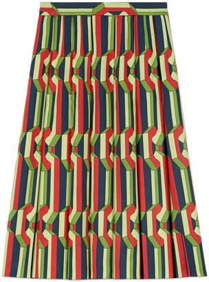 Chain print silk skirt $1,800 thestylecure.com