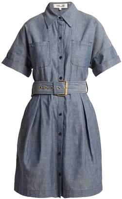 Diane von Furstenberg Belted cotton-chambray dress