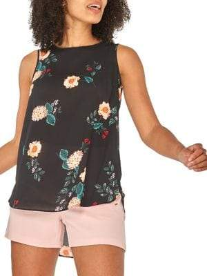 Dorothy Perkins Floral High-Low Sleeveless Top