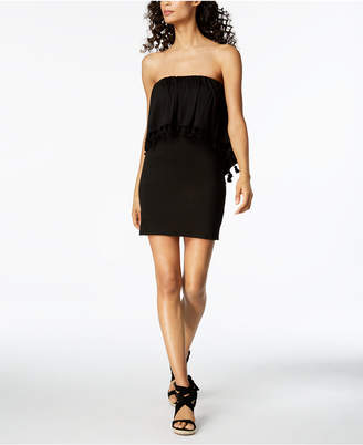 Trina Turk Tasseled Strapless Popover Dress