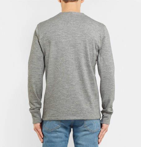Rag & Bone Slim-Fit Mélange Cotton-Blend Jersey Henley T-Shirt