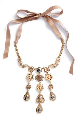 Badgley Mischka Crystal & Freshwater Pearl Collar Necklace