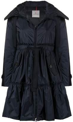 Moncler hooded peplum raincoat