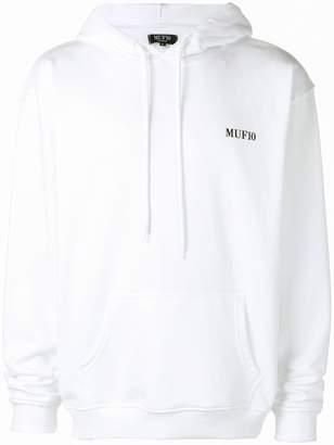 Muf 10 chest logo hoodie