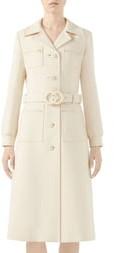 Gucci Interlocking-G Belt Wool Coat