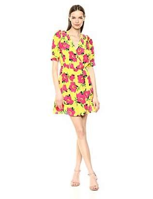 The Kooples Women's Women's Short Wrap Dress in Peony Flower Print