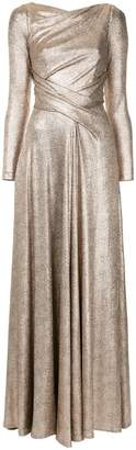 Talbot Runhof metallic folded dress