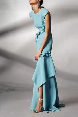 Theia Cap Sleeve Gown