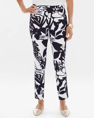 Travelers Collection Tropical Floral Crepe Pants