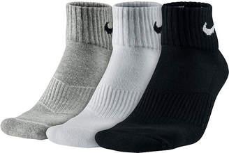 Nike 3-pk. Performance Cotton Quarter Socks
