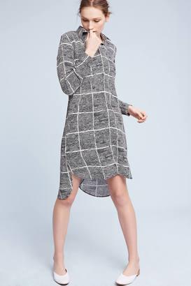 Rinku Dalamal Gridway Crepe Shirtdress $138 thestylecure.com