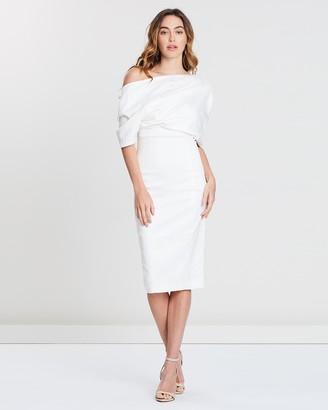 Freya Shawl Drape Dress